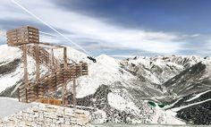 Montagne - Alpes-Maritimes - Présentation de la plus grande tyrolienne de France, l'une des plus grandes d'Europe, à la Colmiane