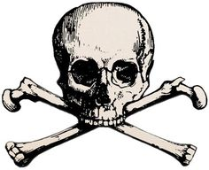A skull and crossbones is a symbol consisting of a human skull and two long bones crossed together under the skull. Description from imgarcade.com. I searched for this on bing.com/images