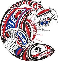 Honouring the Salmon Decal Nation: Haisla, Heiltsuk Artist: Paul Windsor. Native American Art