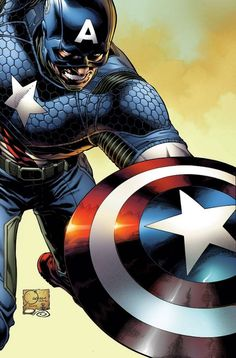 Captain America #1 cover by Joe Quesada #comics #art
