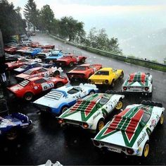 Yep, the most interesting cars in the world. Strange Cars, Good Looking Cars, Lancia Delta, Car Posters, Vintage Race Car, Rally Car, Car In The World, Car Photography, Amazing Cars