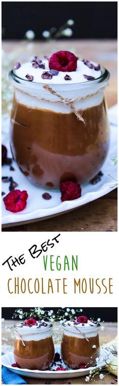 the best vegan chocolate mousse Best Vegan Desserts, Vegan Dessert Recipes, Vegan Treats, Delicious Desserts, Whole Food Recipes, Yummy Food, Brunch, Avocado Mousse, Vegan Baking
