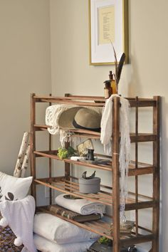 Repurposed+Antique+Bakers+Rack