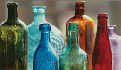 multi colored bottles (Acacia)