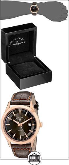 Zeno Men's 42mm Brown Calfskin Stainless Steel Case Quartz Watch 6662-515QPGR-F1  ✿ Relojes para hombre - (Lujo) ✿