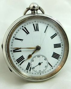 ENGLISH ENGLISH SILVER Pocket Watch 1916 at Ashton-Blakey Vintage Watches