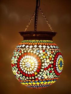 Mosaic Ball Lantern