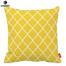 Freesia Yellow Quatrefoil geométricas decorativas fronhas capa de almofada caso ambos os lados impressão travesseiro sofá carro cadeira decoração()