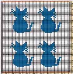 Here I offer only the chart pattern for a potholder. I am assuming that you are familiar with the double-faced knitting technique. charts animal Potholder Cats 3 pattern by Regina Schoenfeldt Double Knitting Patterns, Fair Isle Knitting Patterns, Knitting Charts, Baby Knitting, Crochet Patterns, Blanket Patterns, Pixel Crochet, Crochet Chart, Crochet Baby