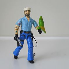 Vintage GI Joe Figure, Shipwreck with Parrot, 1985 Hasbro. this was my favorite GI Joe when i was a little girl...maybe because my daddy is a sailor.