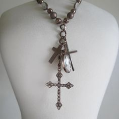 Chocolate Cross Necklace