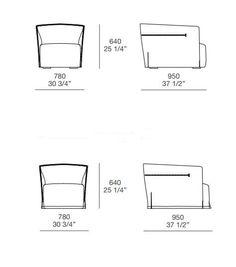 SANTA MONICA Fabric armchair by Poliform design Jean-Marie Massaud