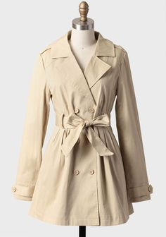 Case Closed Trench Coat By Tulle at #Ruche @shopruche