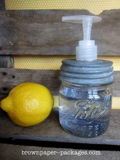 brown paper packages: {DIY mason jar soap pump}