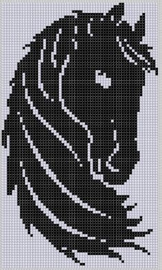 Horse Head Cross Stitch Pattern by MotherBeeDesigns on Etsy