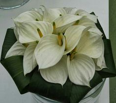 Mooi wit - wedding bouquet all white Anthurium