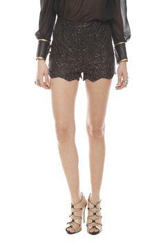 Lace High-Waist Shorts...look fucking stupid.