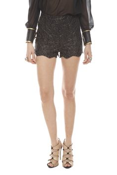 Shoptiques — Lace High-Waist Shorts