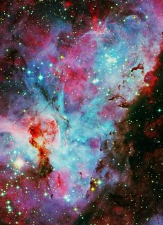 whoever draws or thinks of outer space as solid black with white stars, obviously hasn't seen true space...it's gorgeously colourful! :) :D