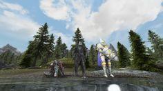 My favorite screenshot of my RPG Trio - Mage Warrior and Tank #games #Skyrim #elderscrolls #BE3 #gaming #videogames #Concours #NGC