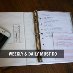 DIY Lifeline Binder via The Happy Space Project Workspace Issue (January Notebooks, Journals, Organizing, Organization, Space Projects, Design Interiors, Workspaces, Getting Organized, Binder
