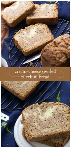The BEST ever Cream Cheese-Swirled Zucchini Bread