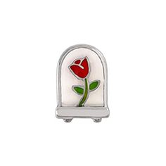 Rose Terrarium Charm -CARRY THE FLOWER OF PASSION AND LOVE EVERYWHERE YOU GO WITH A GORGEOUS ROSE TERRARIUM CHARM INSIDE A LIVING LOCKET. PAIR THIS WITH THE PAVÉ SWAROVSKI CRYSTAL HEART CHARM FOR A LOOK THAT'S TRULY MAGICAL.   CHARM FEATURES LIMITED EDITION HAND-PAINTED ENAMEL