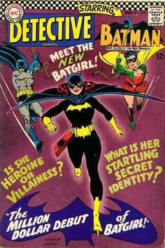 Detective Comics 359 - First Batgirl (Later revealed to be Barbara Gordon)