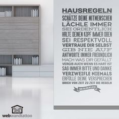 Wandtattoos Hausregeln