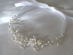 Bridal hair accessories. Bridal headband.  Wedding hair piece.