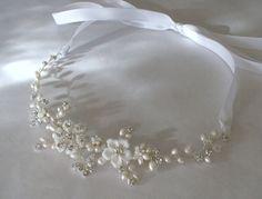 Bridal hair accessories. Bridal headband. Wedding hair piece.