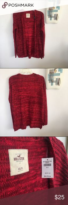 Textured Knit Hollister Open Sweater Dress with skinny jeans or layer with dresses. New with tags! Side hem slits, slips easily on and off. Fits XS-S. Hollister Sweaters