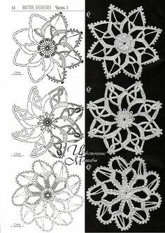 Ideas crochet flowers irish charts for 2019 Crochet Snowflake Pattern, Crochet Motif Patterns, Crochet Stars, Crochet Snowflakes, Crochet Doilies, Crochet Flowers, Crochet Stitches, Filet Crochet, Freeform Crochet