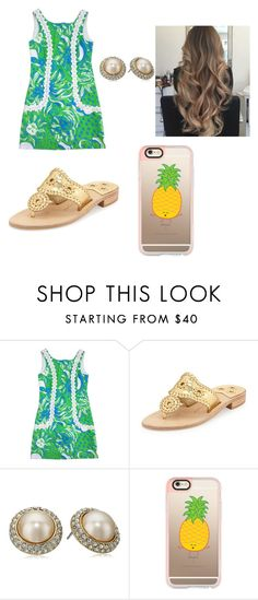 """""""Untitled #468"""" by chanel-xoxo123 on Polyvore featuring Lilly Pulitzer, Jack Rogers, Carolee, T3, Casetify, preppy, jackrogers, Lillypulitzer, southernpreppy and iphone7plus"""