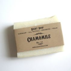 Chamomile Soap  Unscented Soap Herbal Soap Vegan http://pinterest.com/nfordzho/soaps/