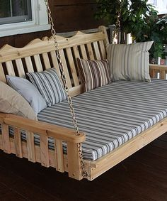 Look what I found on #zulily! Unfinished Cedar Royal English Swing Bed #zulilyfinds. $599.99