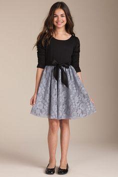 very classy fall/winter dress for an older girlchild.