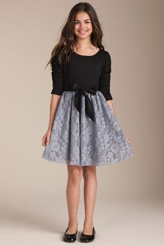 very classy fall/winter dress for an older girlchild.