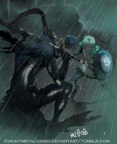 Dark Souls-Confronting Knight Artorias by HeavyMetalHanzo