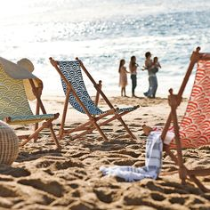 love these beach chairs - serena and lily