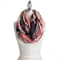 Love loop scarves! This one is beautiful.