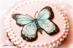 Cómo decorar galletas con imágenes con volumen: Galletas de Mariposa {Vídeo Tutorial   mucho más}