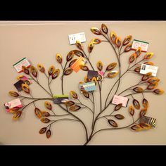 This is a photo wall hang! But I thought it would be a neat business card holder! More of a decor than a plain card holder! Got it at Pier One $39-