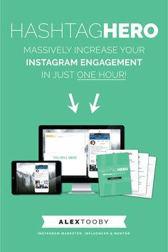 Not sure how or why you should be using hashtags on Instagram? Having a hard time getting engagement from instagram users who are actually interested in your content? Then you need Alex Tooby's Instagram course, Hashtag Hero! Check it out!