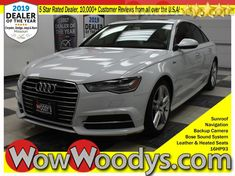 One Owner! This Audi A6 3.0T Premium Plus is equipped with a Sunroof, Leather Heated Seats, Navigation, Backup Camera, Bose Sound System, Keyless Entry, and much more! It has a strong Intercooled Supercharger Premium Unleaded V-6 3.0 L/183 engine powering this Automatic transmission. Rear Cupholder, Fade-To-Off Interior Lighting, Engine Oil Cooler. This vehicle's stock number is 16HP93-541