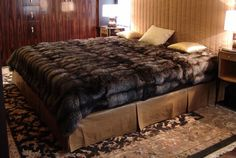 beautiful and luxurious. Interior Exterior, Interior Design, Fur Bedding, Faux Fur Blanket, Fur Accessories, Cozy Nook, Bedroom Bed, Bedroom Ideas, Soft Blankets
