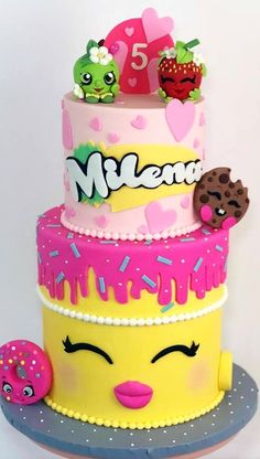 Bolo Shopkins, Shopkins Birthday Cake, Bithday Cake, Birthday Cake Girls, Cake Toronto, Cute Food Drawings, Ballerina Cakes, Baby Girl Cakes, Just Cakes