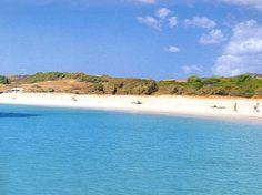 beach in Pula, Sardinia, Italy