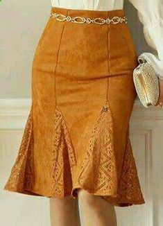 Suede Lace Godet Skirt, Styleonme: do I have any skirts I can up-style like this? Trend Fashion, Womens Fashion, Fashion Design, Skirt Outfits, Dress Skirt, Lace Skirt, Lace Maxi, Gored Skirt, Suede Skirt