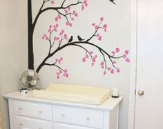 Large Tree Wall Decal Nursery Wall Decoration Corner Tree Wall Sticker Mural Tree Wall decals Wall Art - Large: approx 93 x 67 - KC001  Please click on the picture to see it in fine detail !  ♡ ♡ ♡ DESCRIPTION ♡ ♡ ♡  Photo Frame Hanging Corner Tree Decal. With this decal you instantly turn regular nursery room into modern designed room. Our high quality matte finish decal looks like hand painted piece of art on your wall. (Framed pictures are not included)  Please look in our shop for more…